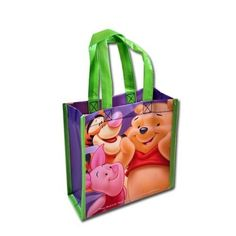 WeGlow International Winnie the Pooh Mini Non-Woven Tote Bag with Matte Printing (Set of 2)