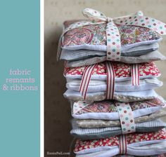 Pretty little gift idea for leftover fabric - homemade lavender bags