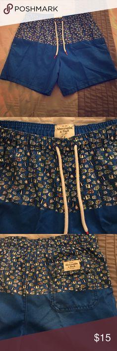 Abercrombie & Fitch Swim Shorts Fun men's swim shorts from Abercrombie & fitch. Only worn one or two times. In great condition. Abercrombie & Fitch Swim Swim Trunks