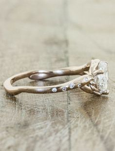 Pin for Later: WEDDING RING SETS. J: I don't know what it is about twig rings that I love so much, but I find myself continuing to love them. wedding rings Perfect Engagement Ring For Her Country Wedding Rings, Beautiful Wedding Rings, Dream Wedding, Country Engagement Rings, Gold Wedding, Perfect Wedding, Country Rings, Bella Wedding, Diamond Bands