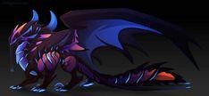 Chunkyblue by Dinkysaurus on DeviantArt Monster Concept Art, Monster Art, Mythical Creatures Art, Fantasy Creatures, Mythological Creatures, Creature Concept Art, Creature Design, Fairy Tail Dragon Slayer, Dragon Zodiac