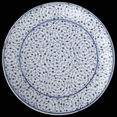 "Dish with tugrakes spiral style decoration. Turkey, ""Iznik"", 1530-40."