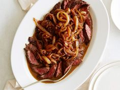 French Cut Steak : The average steakhouse dinner might cost a pretty penny, but Melissa uses budget-friendly skirt steak to make it work at home. Her recipe starts with a flavor-packed rub and ends with a beefy pan sauce of sweet caramelized onions.