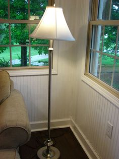 Lamp before new shade