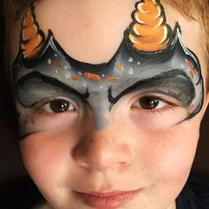 Monster or dinosaur or dragon horns! I love a good, quick, multi-purpose design! #facepaintingbyeileend #niverville #winnipeg #steinbach #manitoba #facepaint #facepainter #monster #dragon #dinosaur #horns