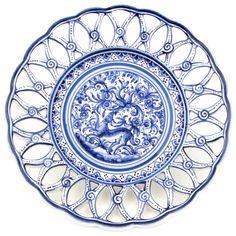 Coimbra Ceramics Hand-painted Hanging Decorative Plate XVII Century Recreation #216