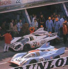 24 heures du Mans 1971 - Porsche 917K #22 - Drivers: Helmut Marko - Gys van Lennep - 1st And Porsche 917K #19 - Drivers: Richard Attwood - Herbert Müller - 2nd