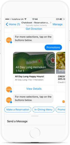 Food Ordering Bot for Restaurants, Bars and Grocery Stores Facebook Messenger, Order Food, Get Directions, Delivery, Templates, Stencils, Vorlage, Models