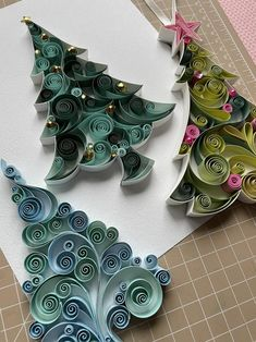 Christmas Ornaments Patterns Paper Quilling Art Patterns | Etsy Paper Quilling Cards, Paper Quilling Patterns, Quilled Paper Art, Quilling Paper Craft, Quilling 3d, Quilling Flower Designs, Quilling Flowers Tutorial, Quilling Images, Quilling Instructions