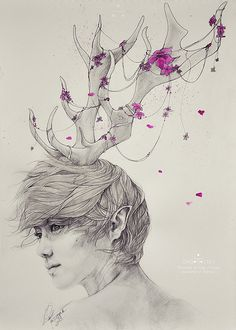 Neverland: Portrait of the Forest (Luhan fanart) / by Gaborovna