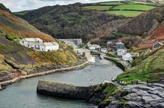   Boscastle, north Cornwall   Boscastle dates back to the 12th century when a Norman motte-and-bailey fortress, Botreaux Castle, was constructed for the de Botreaux family. The village takes its name from this, though few remains now survive.  Boscastle harbour is a natural inlet within two steep hillsides protected by stone harbour walls built in 1584 by Sir Richard Grenville (of HMS Revenge). These replaced a much earlier harbour. It is the only significant harbour...