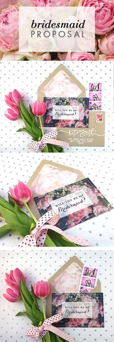 This Floral & Vintage Bridesmaids Card is perfect for your wedding