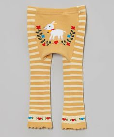 Take+a+look+at+this+Yellow+Goat+Stripe+Leggings+on+zulily+today!