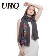 ad85edbce86 90*180 long big size embroidered hijab scarves floral viscose shawl ethnic  japanese Bandana for Ladies women high quality