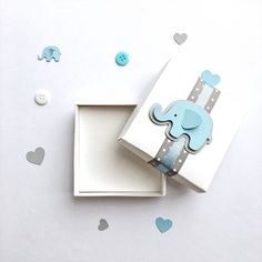 Excited to share the latest addition to my #etsy shop: Elephant Favor Boxes Elephant Boy Baby Shower Gift Favor Boxes Blue Gray Elephant 1 st Boy Birthday Bomboniere Favors Candy Box Set of 12