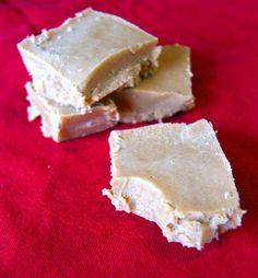 Vanilla Almond Fudge #dairy free and sweetened with honey