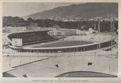 Construction of the Olympic stadium, Caracas, Venezuela, from a paper in the Journal of the Society of Engineers, 1953.