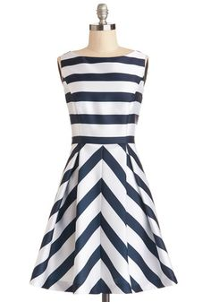 Flight Stripes Dress, #ModCloth