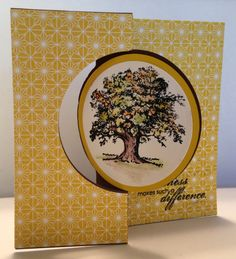 Flip card made with Stampin' Up Circle Thinlit Card Die