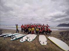Today #Famara Beach  a fun day with the Group of UK @lasantaprocenter Thanks for your visit See you again soon  http://ift.tt/SaUF9M #lasantasurf #lasantasurfprocenter #surfschool #surfschoollanzarote #surflessons #surfcoach #surfday @clublasantauk @clublasanta