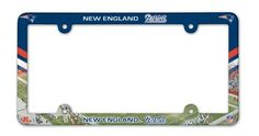 New England Patriots Full Color License Plate Frame