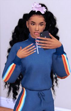 sims 4 cc black hair | Tumblr