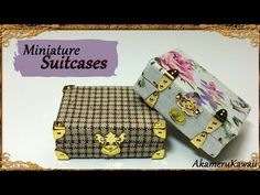 Miniature vintage inspired Suitcases - Polymer clay/Fabric Tutorial - YouTube
