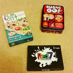 What should I play tonight? #flipcity #red7 #sushigo. #boardgames #tabletop Follow us at http://ift.tt/1DW0xF2 #indietabletop #boardgames #tabletop #games