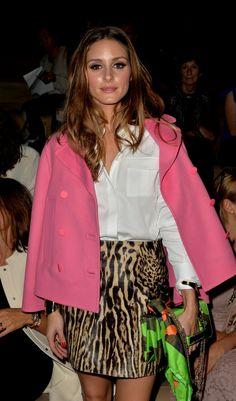 Olivia Palermo wears a Valentino look from the Spring 2014 Collection at the Prét-à-Porter SS14 Fashion Show in Paris, the 1st of October 2013