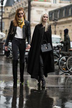 kerchief & a cape. #HelenaGreyhorse + 1 #offduty in Paris.