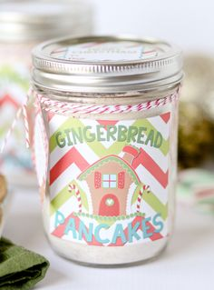Homemade Gingerbread Pancake Mix {Free gift tags and printable labels} - Confessions of a Cookbook Queen