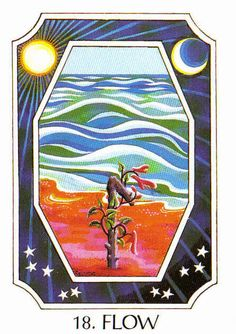 18. Flow (Laguz) - Rune Cards by Ralph Blum Illustrated by Jane Walmsley