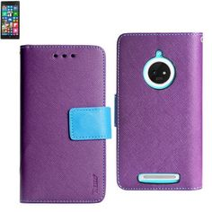 3 IN 1 WALLET CASE FOR Nokia Lumia 830 PURPLE