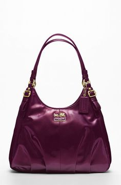 COACH MADISON PATENT MAGGIE available at #Nordstrom