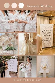 Romantic and Rustic Wedding Color Ideas / blush and ivory #romanticwedding #rusticwedding #2021wedding Rustic Wedding Colors, Rustic Wedding Backdrops, Wedding Decorations On A Budget, Rustic Wedding Reception, Rustic Wedding Signs, Rustic Wedding Dresses, Rustic Wedding Centerpieces, Elegant Wedding, Wedding Trends