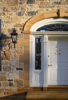 Keep a kind thought, smile often, wear pink lipstick, make life a beautiful, peaceful place. Door Entryway, Entry Doors, Front Doors, The Door Is Open, Cool Doors, Traditional Doors, Brick And Stone, Stone Houses, Architect Design