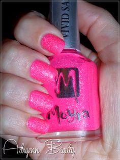 Adryenn Beauty: Moyra Vivid Sand körömlakk - Party Pink