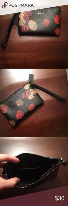 Coach Wristlet—new, without tags Excellent quality, brand new—it was a Christmas gift, I took the tags off but never used. It has a slot for a credit card and Black interior. If questions—ask! :) Coach Bags Clutches & Wristlets