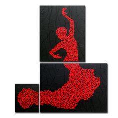 Matrix Flamenco  Original Painting in 3 Pieces on by MatriXArtbyDV, $149.00