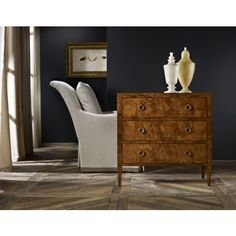 The well appointed house - Three Drawer Chest in Burl - Chests & Consoles - Furniture