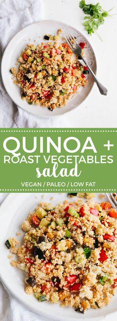 Roast Vegetable Quinoa Salad (Vegan + Paleo)