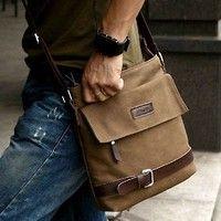 Wish | Vintage Retro Men's Faux Leather Shoulder Messenger Working Hiking Bag Satchel