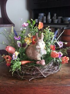 Easter Rabbit Wreath / Centerpiece