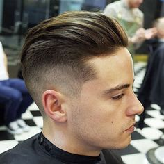 Undercut Hairstyle with Slicked Back Hair - Cool Men's Haircuts