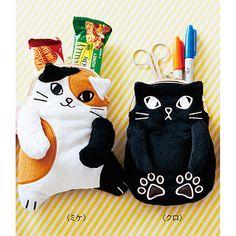 もふもふにゃん 肉球付き猫がま口ポーチの会(6回限定コレクション)   フェリシモ