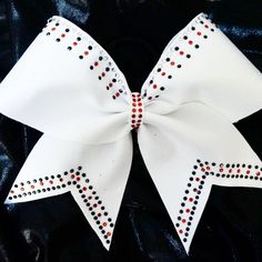 Cheer Bow Factory — Sample Bow - Red, black and crystal rhinestones -...