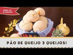 Pão de Queijo (3 Queijos!) - Receitas de Minuto #241 - YouTube