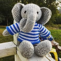 #knit #knitting #knittersofinstagram #knitlove #littlecottonrabbits #knitelephant #knitstuffedanimals