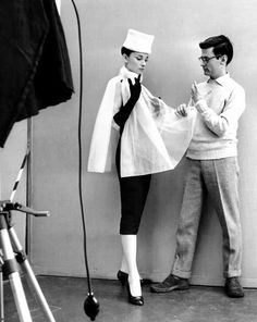Audrey Hepburn with Richard Avedon, 1950s - Two people who inspire me so much.