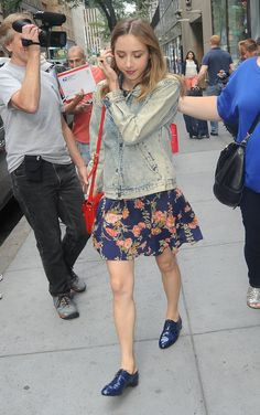 Zoe Kazan - Leaving NBC's Today Show in New York City - August 4, 2014 #ZoeKazan